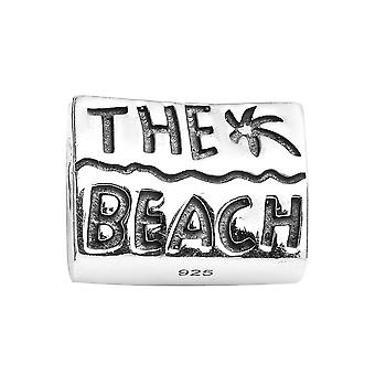 Sterling Silver Platinum Plated Beach Charm Best Gift for Women TJC