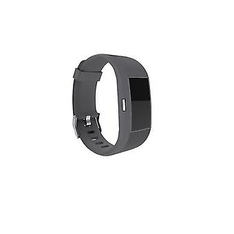 Replacement Wristband Bracelet Strap Band for Fitbit Charge 2 Classic Buckle[Slate,Large] BUY 2 GET 1 FREE