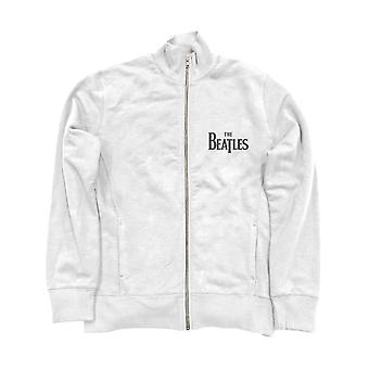 The Beatles Jacket Track Top Drop T Band Logo new Official Mens White Zipped
