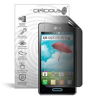 Celicious Privacy 2-weg Antispion filteren Screen Protector Film compatibel met LG Optimus L5 II