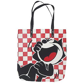 Felix de Cat Red Check Tote