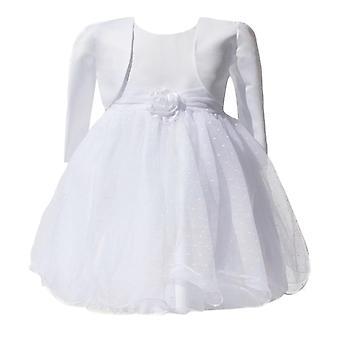 女の赤ちゃんホワイト ボレロ ドレス