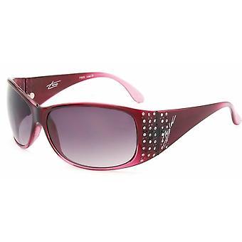 Bloc Eyewear Turin F85 Cranberry Sunglasses (Grey Grad Lens)