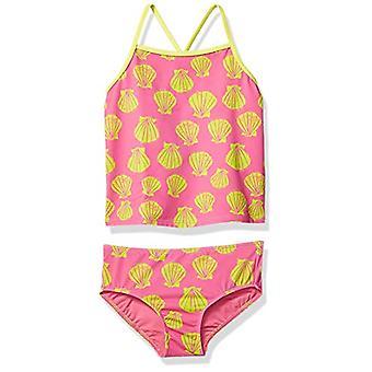 Brand - Spotted Zebra Kids Girls Tankini Rashguard Swimsuit Sets, Pink...