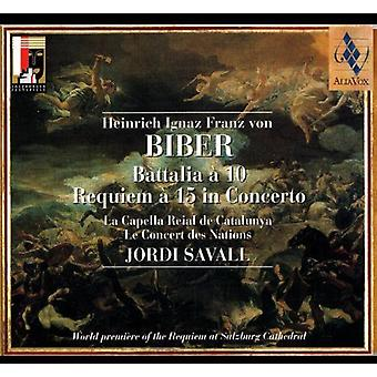 H. Biber - Biber: Battalia 10; Requiem 15 i konsert [CD] USA import