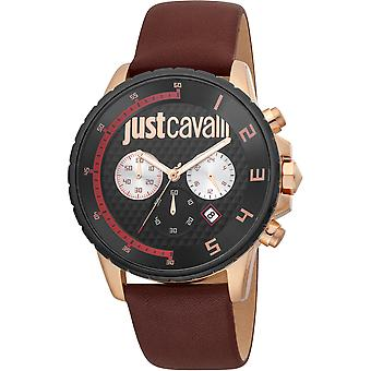 Just Cavalli Sport Watch JC1G063L0245 - Leather Gents Quartz Chronograph