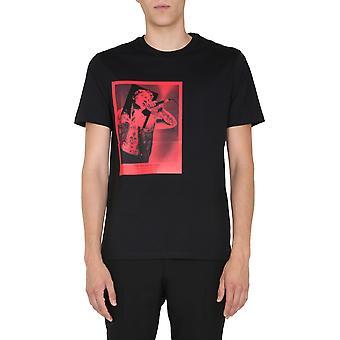Neil Barrett Pbjt815sp532s1819 Men's Black Cotton T-shirt