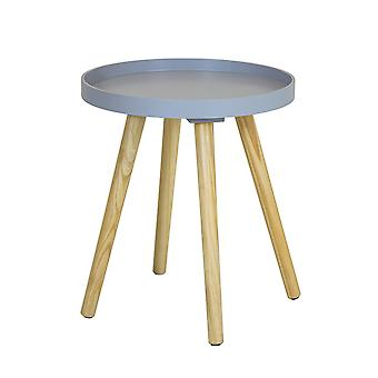 Charles Bentley Tray Top Side Table with Pine Legs Grey Living Bedroom Scandi