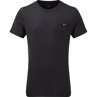 North Ridge Men's Peak Merino Top Black
