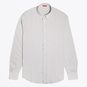 Barena  - Cotton Stripe Shirt - Pale Blue/Multi