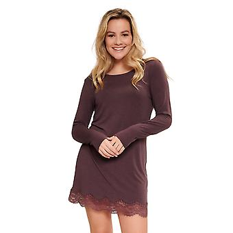 LingaDore 5611-269 Women's Fudge Brown Lace Details Nightdress