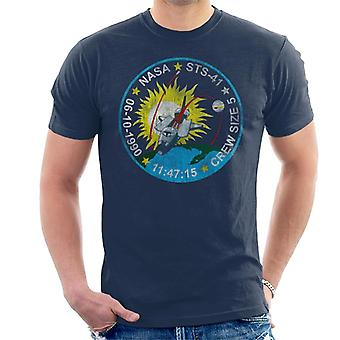 NASA STS 41 Discovery Mission Badge Distressed Men's T-Shirt