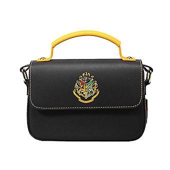 Harry Potter Satchel Laukku Tylypahkan School Crest uusi virallinen Musta