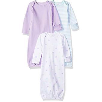 Essentials Baby Girls 3-Pack Sleeper Jurk, Dots, 0-6M