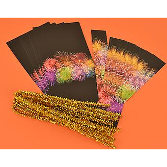 Cracker Wraps & Ties for 8 Crackers - Fireworks