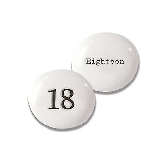 18 Caillou de porcelaine pour 18ème anniversaire - Cracker Filler Cadeau