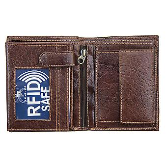Primehide Leather Mens Wallet RFID Blocage Gents Card Holder Notecase 4153