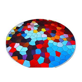 YANGFAN Современный простой скандинавский геометрический круговой ковер