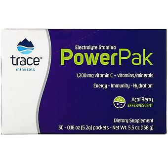 Trace Minerals Research, Electrolyte Stamina PowerPak, Acai Berry, 30 Paquets, 0