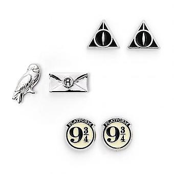 Harry Potter Silver Plated Earring Set CL