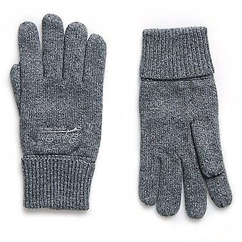 Superdry Orange Label Gloves Grey Grit 3WG