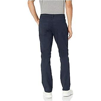 Marca - Peak Velocity Men's Cotton Rich Active Chino Pant, Navy, 30W x...