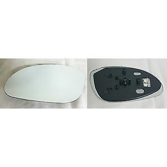 Verre miroir latéral passager gauche (chauffé) et support pour VAUXHALL VECTRA 1995-2002