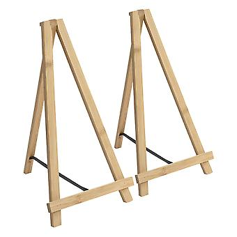 Argon Tableware 3 Piece Small Wooden Easel Set - Modern Style Tabletop Display Piece - Pine - 20cm