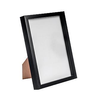 "Nicola Spring Acrylic Box Photo Frame - Black - 8 x 12"" (A4)"