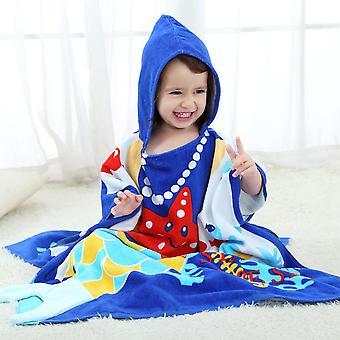 Ręcznik kąpielowy dla dzieci, szlafrok z kapturem z nadrukiem dla dzieci