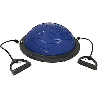 Bosu Balance Trainer Blue 59.5cm With Lines and Eb Fit Pump