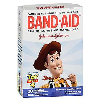 Band-Aid Adhesive Bandages Assorted Sizes Toy Story 4, 20 Each