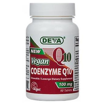 Deva Vegan Vitamins Vegan Coenzyme Q10, 100 mg, 90 onglets chewable