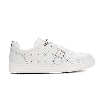 Trussardi Jeans Bianco White Buckle Sneakers