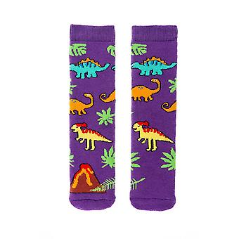 Squelch dinosaur multi-farvede dino welly sokker