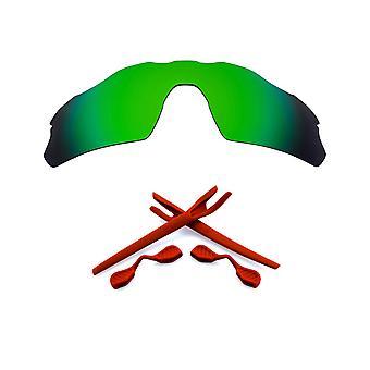 Kit di lenti sostitutive polarizzate per Oakley Radar EV Pitch Green Mirror Red Anti-Scratch Anti-Scratch Anti-Scratch anti-Glare UV400 di SeekOptics