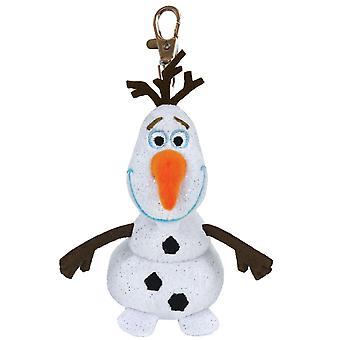 TY Disney Frozen Olaf Frost Olof Keychain Stuffed Animals With Sound Stuffed Animals 9cm