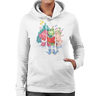 Pflege Bären Weihnachten Carol Frauen's Kapuzen Sweatshirt