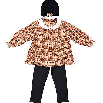 Girls Clothing Set Pants Sweater Longsleeve Shirt Combination Flower Outfit Set
