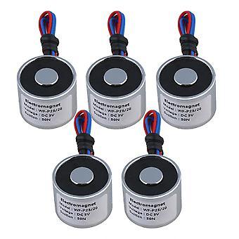 5ks 5V DC 5kg 50N 0.8A Elektrický zdvíhací holding Magnet Elektromagnet 4W