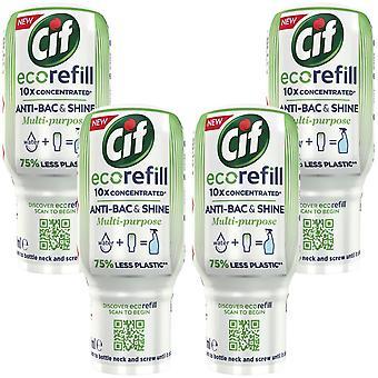 4pk Cif Antibac&Shine Ecorefill99.9%GermKillMultipurposeDisinfectantCleaner,70ml