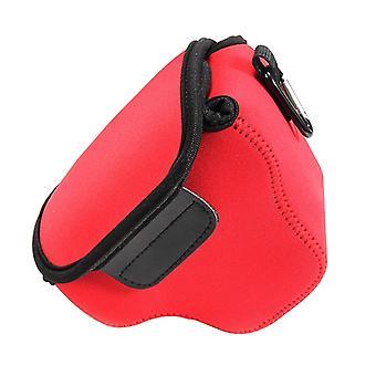 Mini Portable Neoprene Camera Bag & Case for Canon SX520 HS, Size: 10*10*13cm(Red)