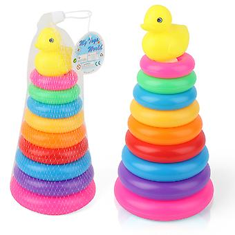 Stacking Rings Toy,rainbow Stacker Toddler,learning Toys For Baby