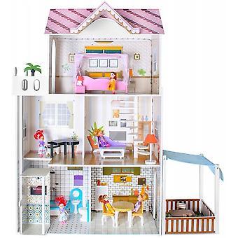 Maison de poupée led en bois de 120cm