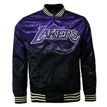 Mitchell & Ness NBA Koripallo LA Lakers Purple Miesten Satiini Bomber Takki LALBLCK