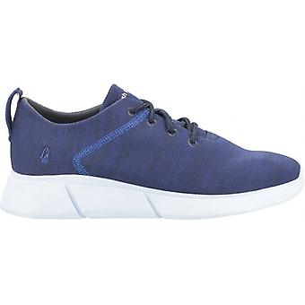Hush Puppies Cooper Dentelle Mens Knitted Trainers Navy