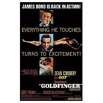 James Bond Goldfinger Postcard