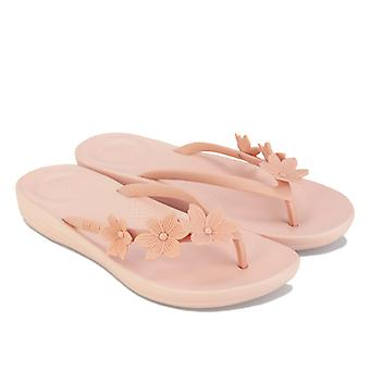 Women's Fit Flop iQushion Flower Flip Flops in Pink