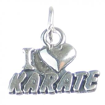 Karate Sterling Silver Charm .925 X 1 Martial Arts Charms - 3789