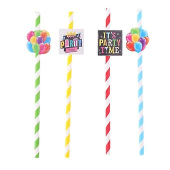 Drinking Straws Balloons 19.5 Cm Paper 20 Pieces